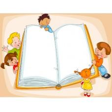 Рисованный фон - Книга (в формате .ai)