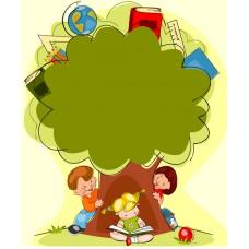 Рисованный фон - Дерево (в формате .ai)
