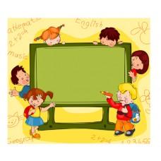 Рисованный фон - Школьная доска (в формате .ai)
