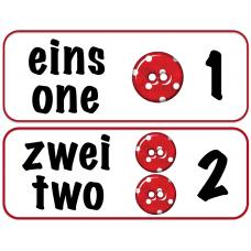 Числа от 1 до 20 на немецком языке
