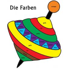 Названия цветов на немецком языке - Юла (лист для раскраски)
