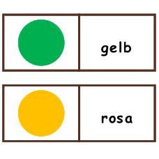 Названия цветов на немецком языке - игра Домино