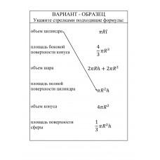 Формулы объемов и поверхностей тел вращения, 11 класс
